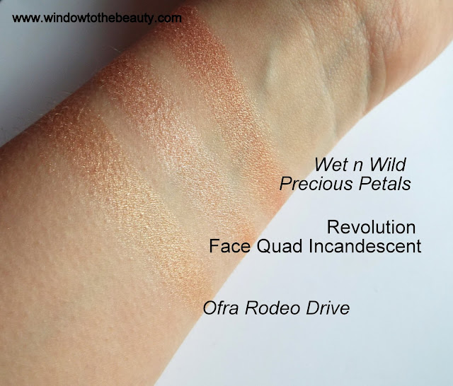 peach cheap highlighters swatches