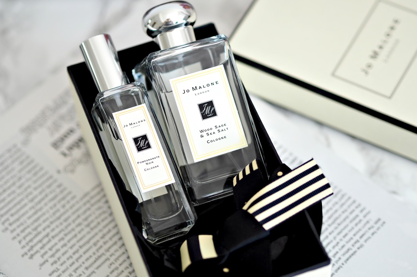 Jo Malone Wood Sage & Sea Salt and Pomegranate Noir at duty free gatwick