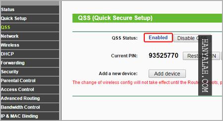 setting WPS Wifi