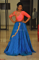 Nithya Shetty in Orange Choli at Kalamandir Foundation 7th anniversary Celebrations ~  Actress Galleries 129.JPG