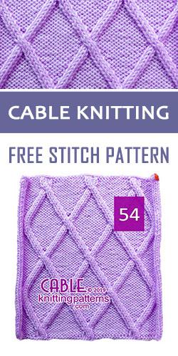 Cable Knitting Free Stitch Pattern 54