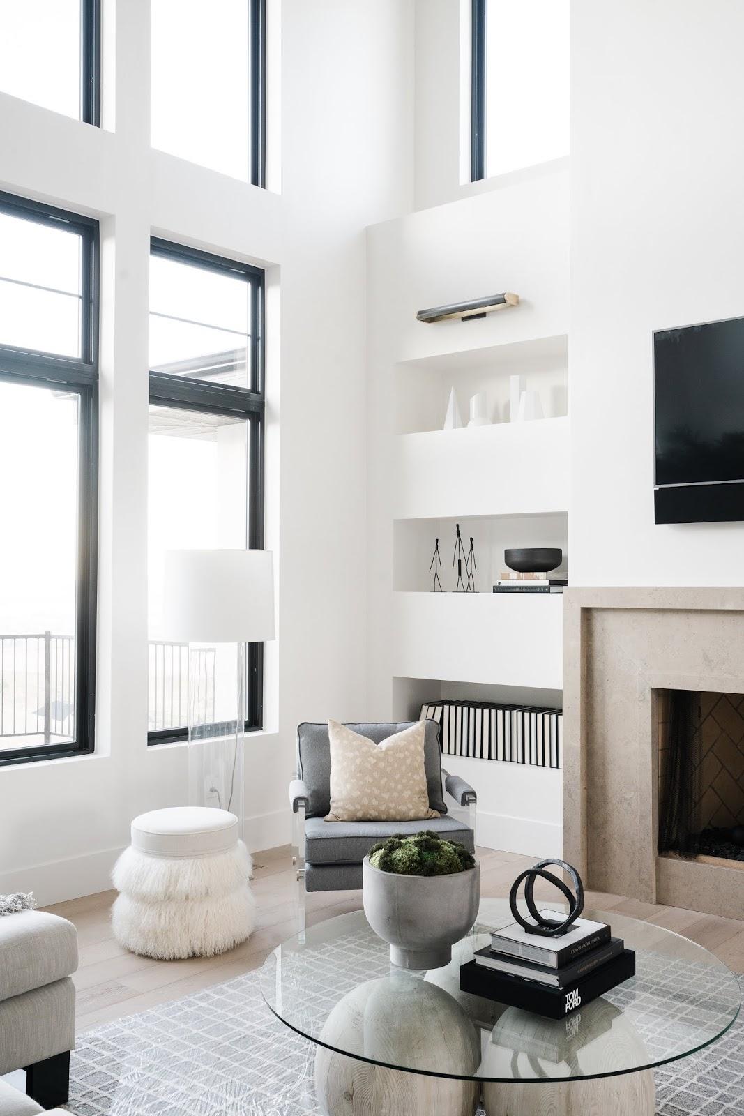 Modern Windows, Modern Family Room Ideas