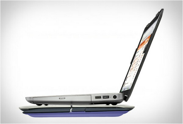 Touch Lapdesk with Retractable Multi-Touch Touchpad