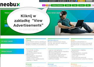 Neobux - oglądanie płatnych reklam