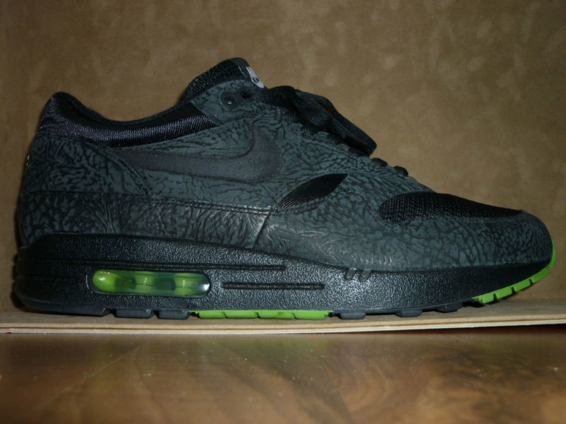 2006 nike air max 1 id black elephant print. Black Bedroom Furniture Sets. Home Design Ideas