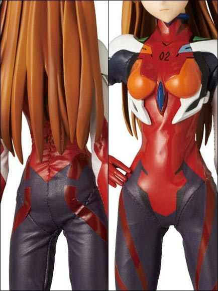 FIGURE ASUKA LANGLEY SHIKINAMI Ver. PLUG SUIT REAL ACTION HEROES EVANGELION Q
