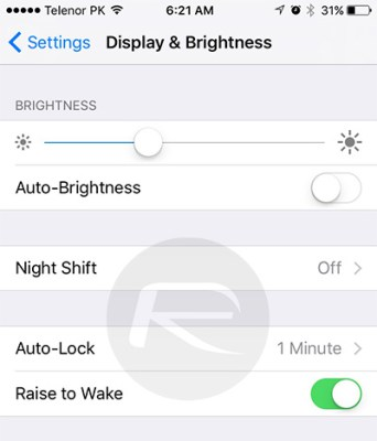 raise to wake ios 10 feature