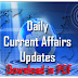 Daily Current Affairs Updates–14th to 16th January 2017 - Download in PDF