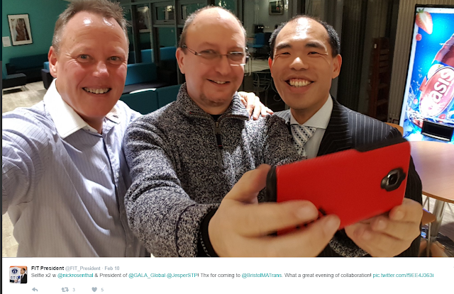 Twitter Selfie pic of translation industry leaders together