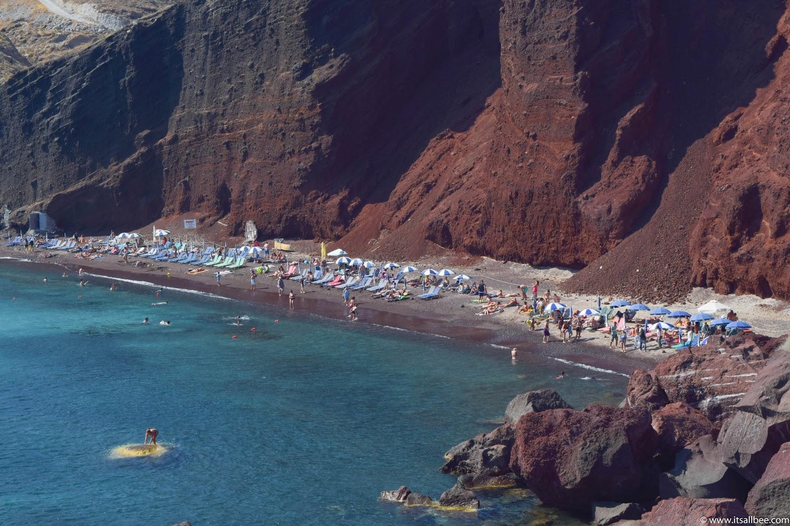 RED BEACH SANTORINI | The Best Beaches in santorini