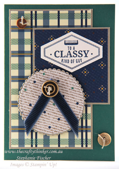 #thecraftythinker, #masculinecard, #cardmaking, #stampinup, masculine card, Truly Tailored, Stampin' Up! Australia Demonstrator, Stephanie Fischer, Sydney NSW