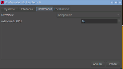 Configuration memoire GPU raspberry pi