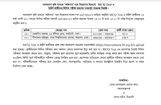 Bangladesh Krishi Bank Officer Written test seat plan
