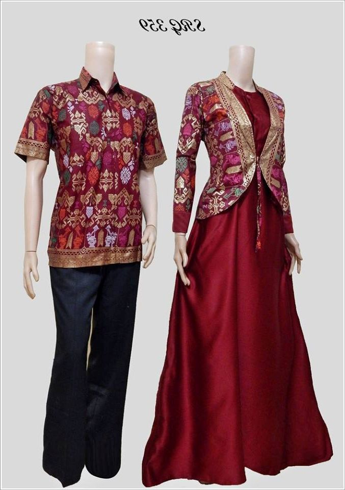 Model Baju Batik Muslim Couple Modern 2016 - Busana Indonesia