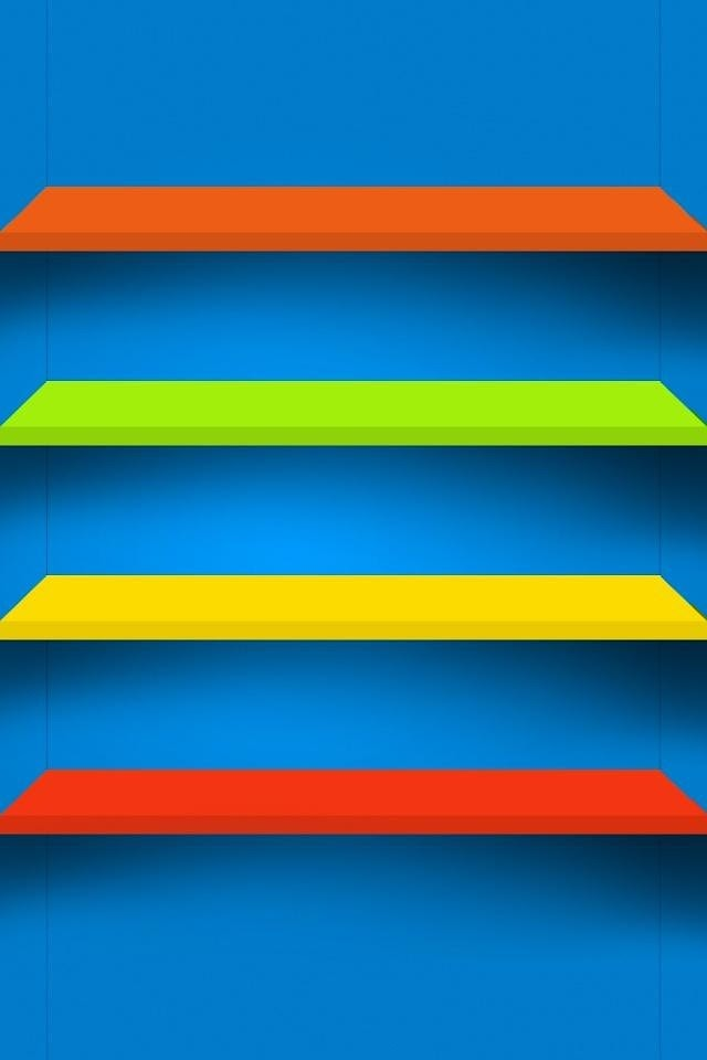 Colorful Shelves  Galaxy Note HD Wallpaper