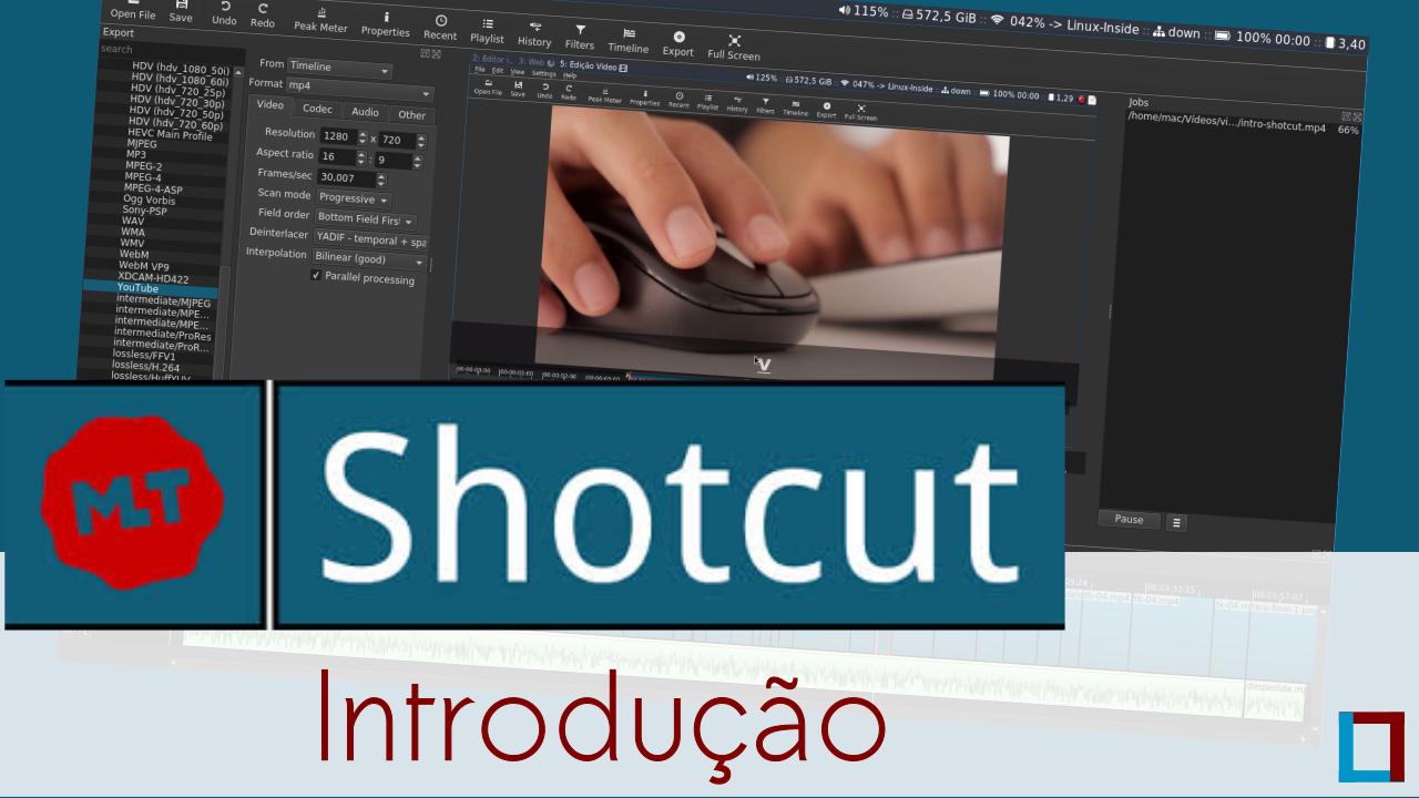 Introdução ao editor de vídeos Shotcut