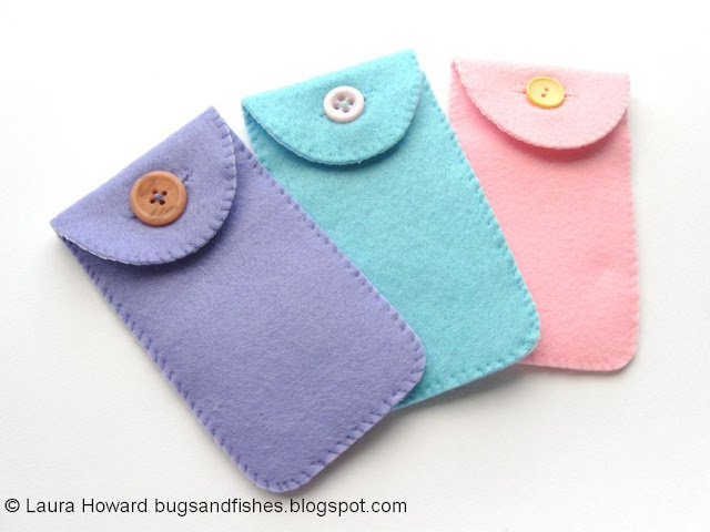back of felt ice cream phone cases