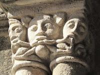 Capitel románico; Catedral de Plasencia; Plasencia; Cáceres; Extremadura; Vía de la Plata