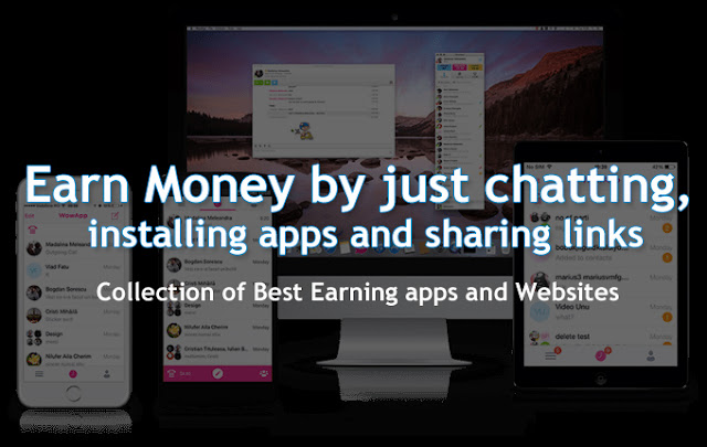 Best Earn Money Online smartphone Apps and Websites | Earn by Chatting, Installing apps, Sharing links, Invite friends, emails