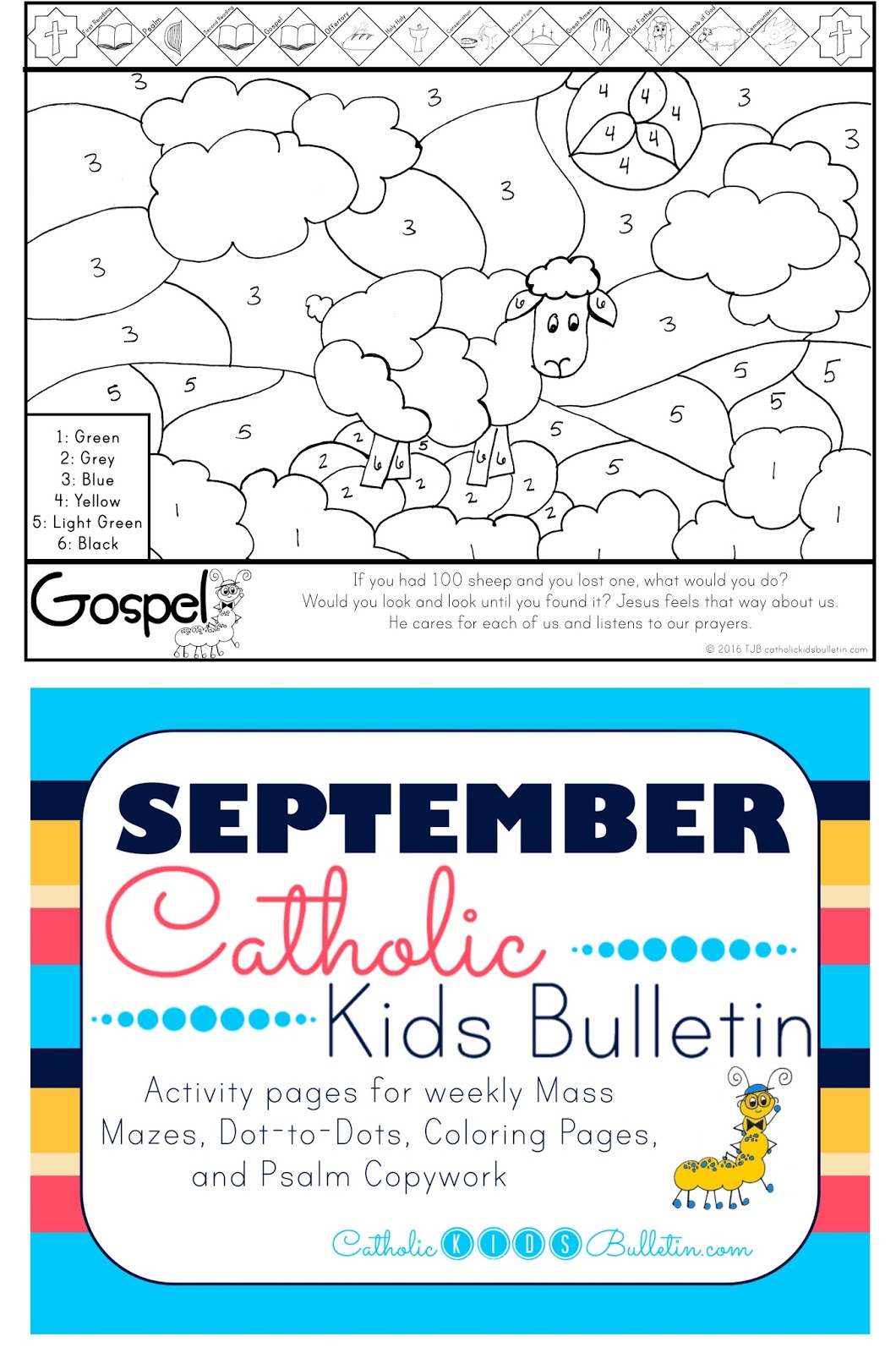 Catholic Kids September Catholic Kids Bulletins