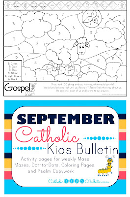 Luke 15:1-32 Finding Lost Sheep Coloring Page Catholic Kids Bulletin
