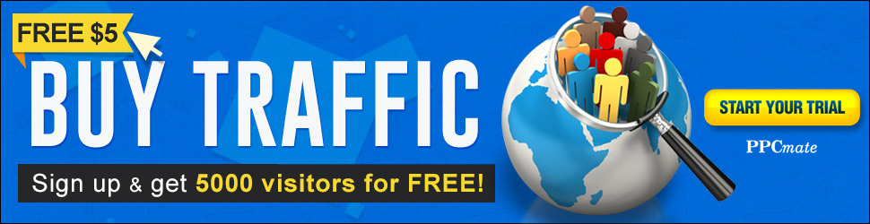 Buy  Web  -  Traffic ! Sign Up and Get 5000 Visitors For FREE !!! PPCmate | RTB exchange Platform for Media Buyers & Agencies.