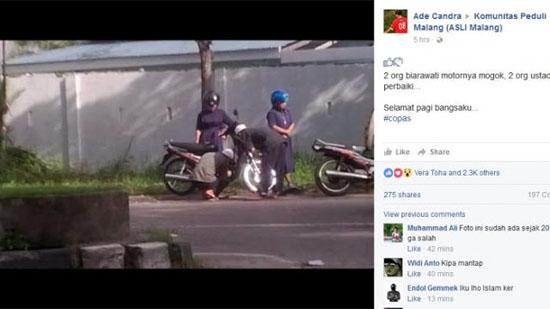 Ustadz bantu biarawati hebohkan facebook