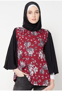 Desain Model Baju Batik Kantor Wanita Berjilbab Terkini