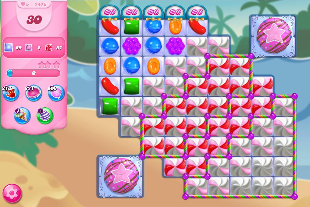Candy Crush Saga level 7478
