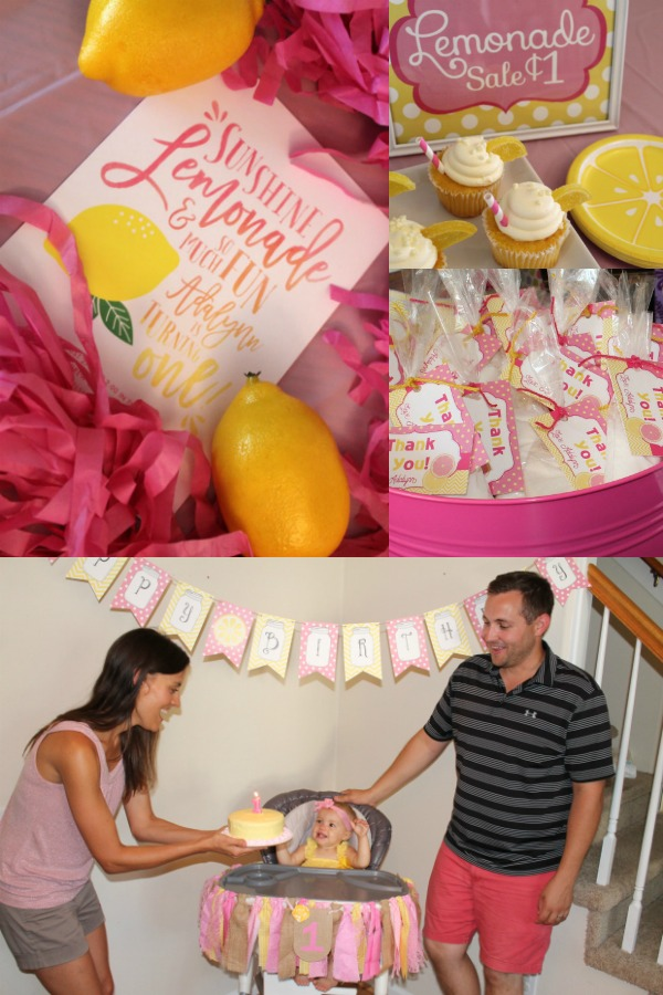 Pink lemonade first birthday party ideas for girl.