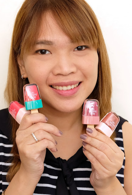 a photo of Etude House Dear Darling Water Tints Review in shades Peach Red, Watermelon Red, Red Ben Red and Jewel Red by Nikki Tiu Askmewhats