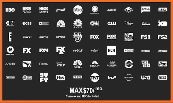 DirecTV Now Max Bundle