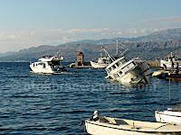 Postira, potop broda Dioklecijana otok Brač slike