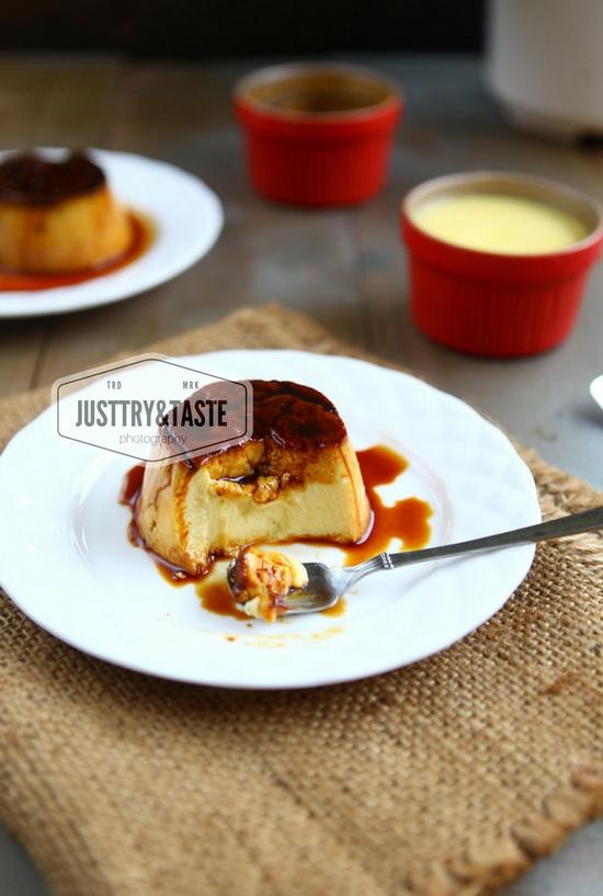 Resep Custard Caramel Pudding