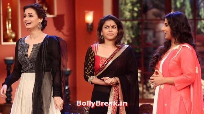 Dia Mirza, Sumona Chakravarti and Vidya Balan, Vidya Balan, Dia Mirza Pics from Comedy Nights With Kapil