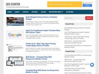 Skor Speed GT Metrix Template Blog SEO Starter