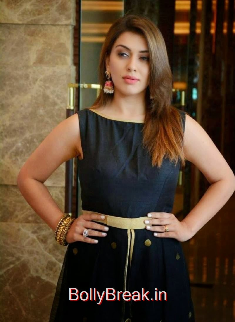 Hansika Photos, Hansika Latest Hot Pics In Black Dress from Emerald Flats Launch Event