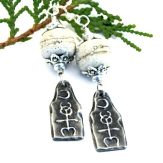 Moon over Monad Earrings by Shadow Dog Designs