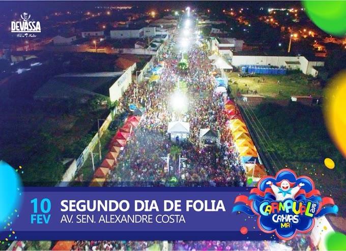 CARNAVAL QUE A GENTE QUER – 2ª noite reúne público expressivo durante apresentação de bandas locais e regionais