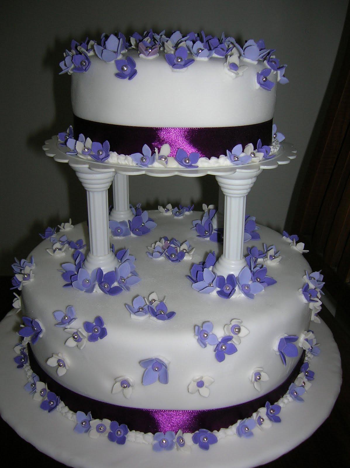 Cakes Cakes N More Purple Theme Wedding Cake