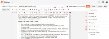 Blogger Yazı Yazma Paylasma Ayarları