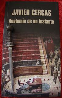 Portada del libro Anatomía de un instante, de Javier Cercas