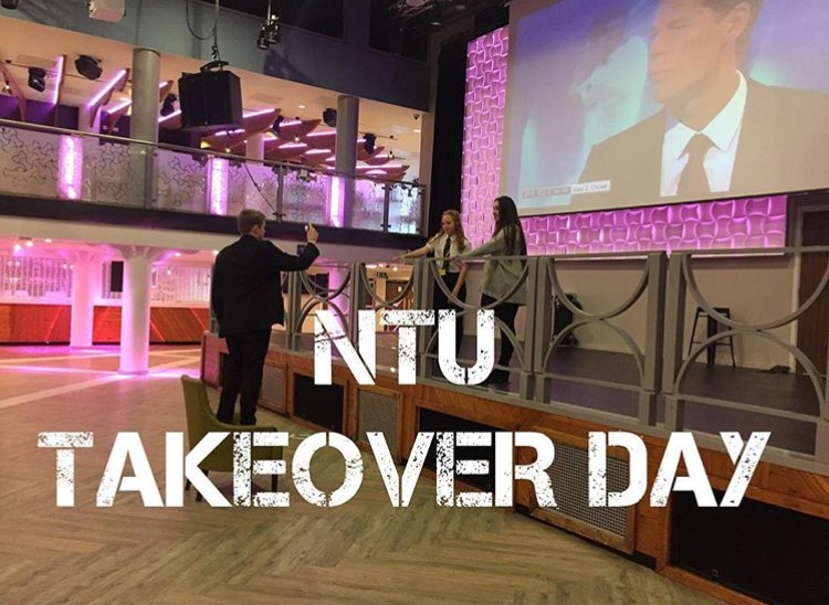 Students Partaking in the #TakeoverChallenge at NTU.