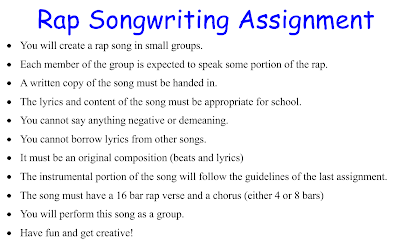 rap songwriting assignment