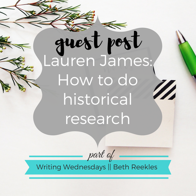 Lauren James, author of YA romances The Next Together & The Last Beginning, wrote a guest post all about how to do historical research.