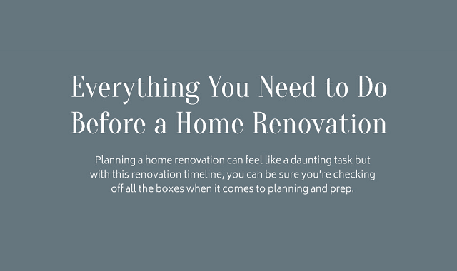Everything you need to do before a home renovation for Things you need for a house