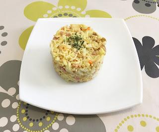 Ensalada tres delicias con mayonesa de mostaza