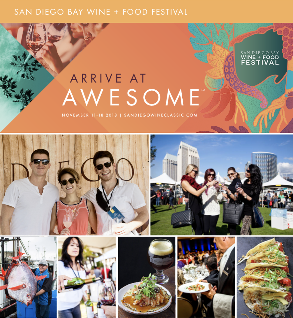 Win tickets to the San Diego Bay Wine + Food Festival Grand Tasting on November 17!