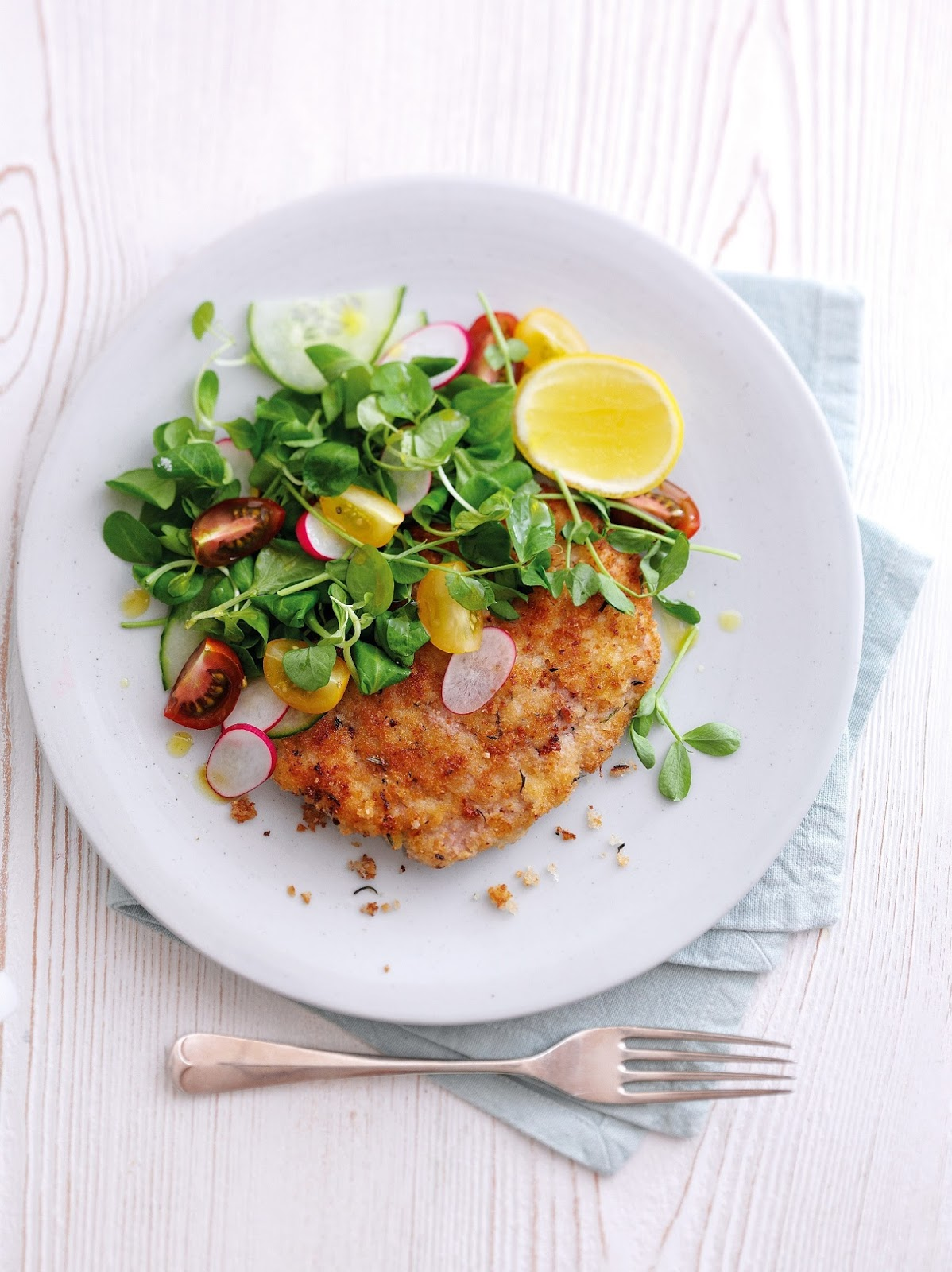 Pork Escalopes With Lemon, Garlic And Rosemary