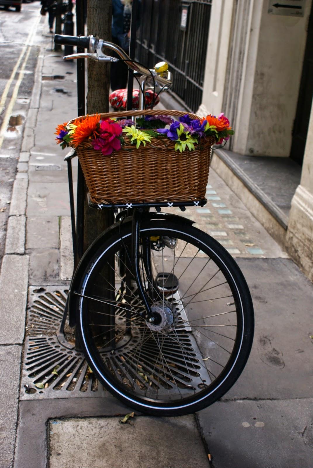 bike flowers soho london uk england britain
